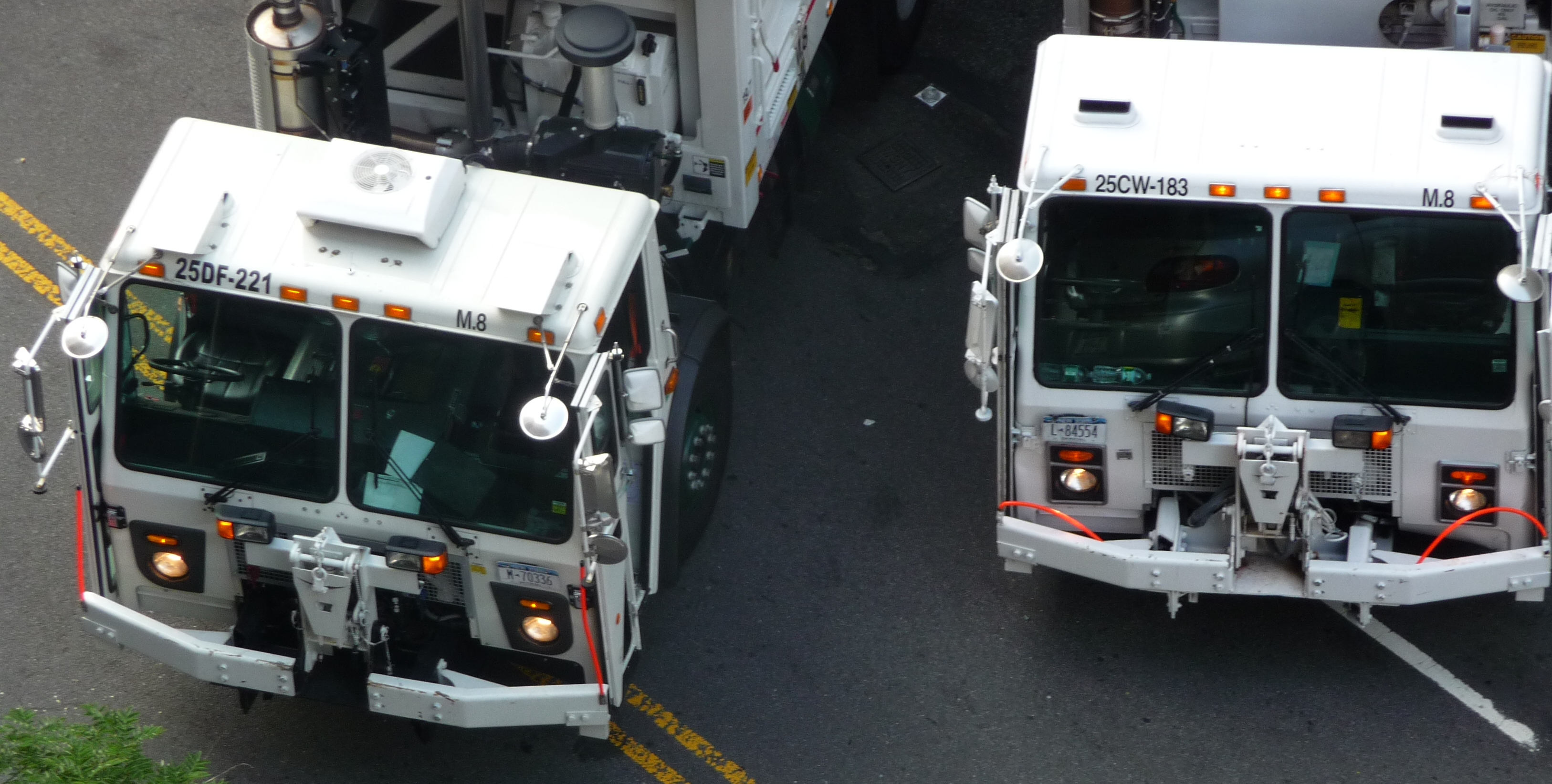 Image result for garbage trucks nyc""