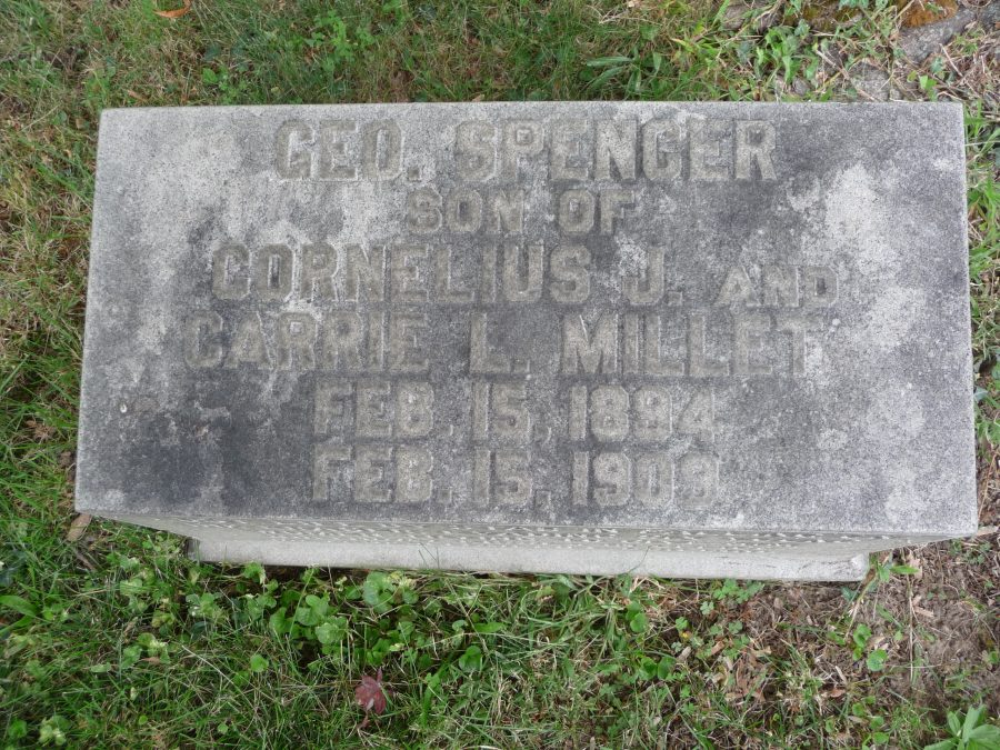 Woodlawn cemetery 1909 Gravestone of George Spencer Millet died while evading girls kisses on his birthday at Metropolitan Life Building