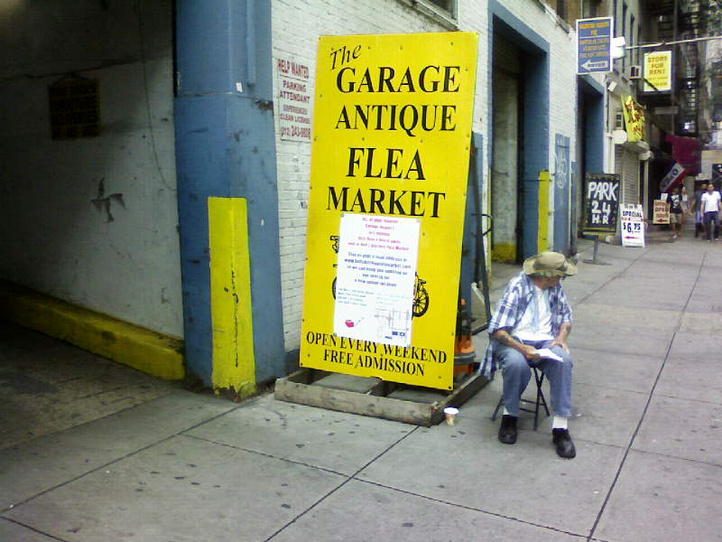 The Garage Antique Flea Market Closing (Make That – Closed)