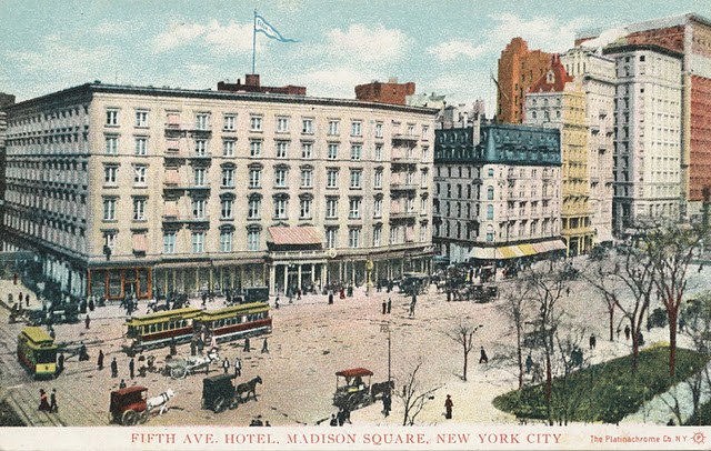 Old New York in Postcards #3 - A Tale of Three Buildings: Franconi's Hippodrome, The Fifth Avenue Hotel & The Fifth Avenue Building