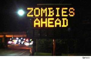funny sign zombies