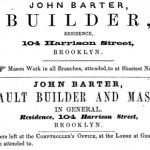 John Barter 1856 Advertisement courtesy Thomas Fenniman
