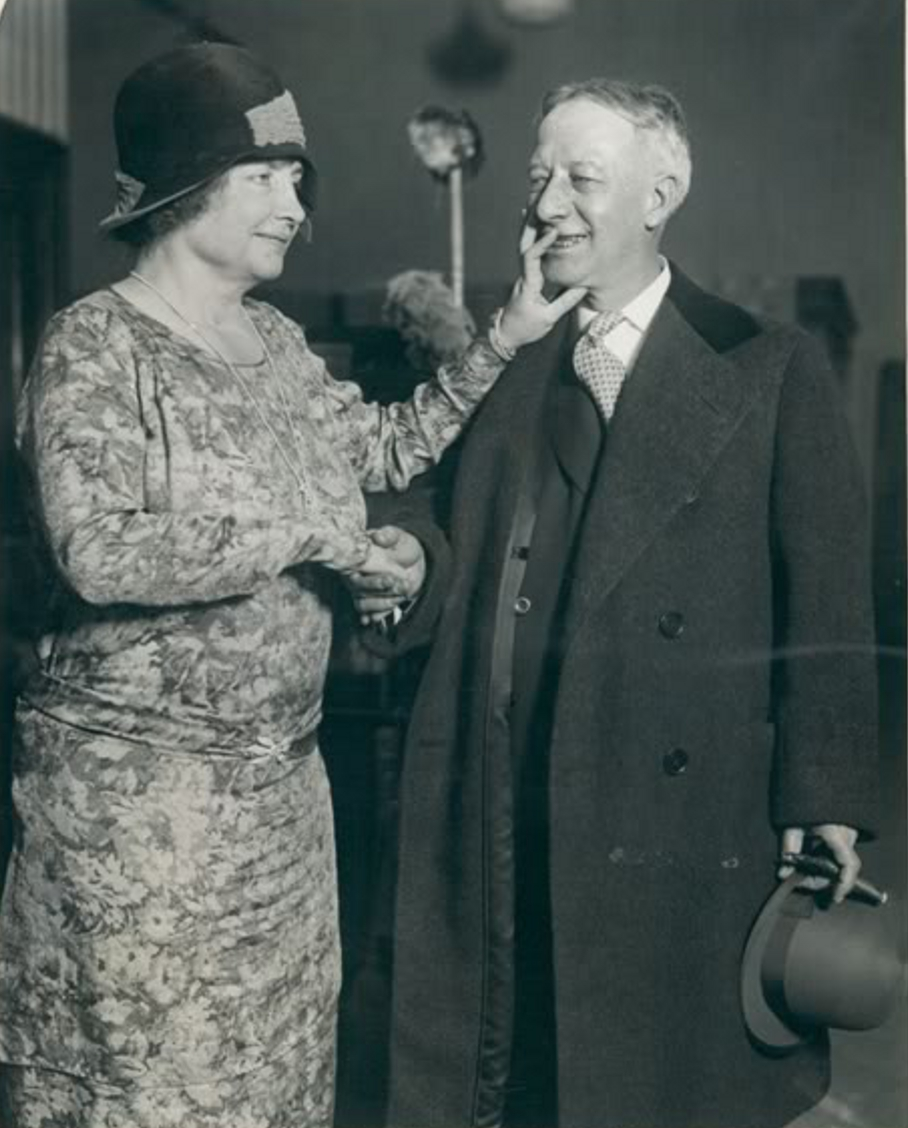 Helen Keller And Al Smith 1929