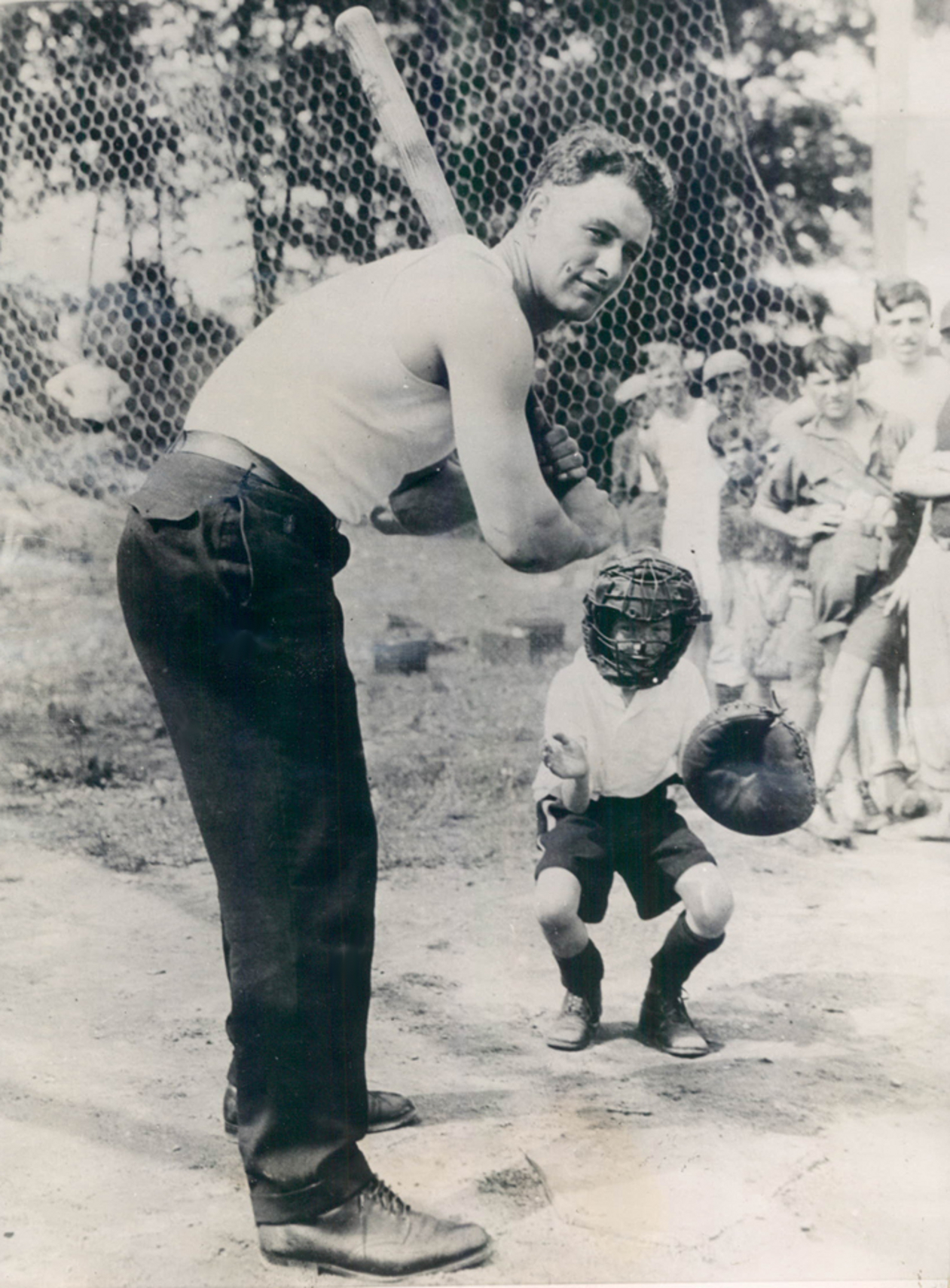 Lou Gehrig Plays Sandlot Baseball 1927