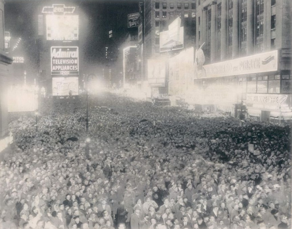 Times Square New Years Eve December 31 1952