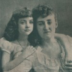 Maude at age 8 with mother Margaret Fealy.