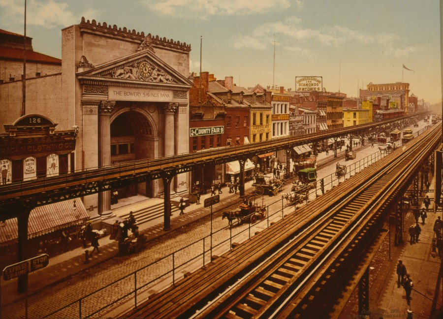 Bowery 1900 Detroit Publishing