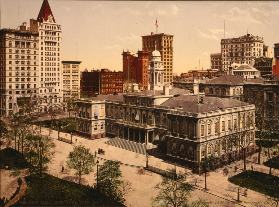 City Hall 1900 Detroit Publishing