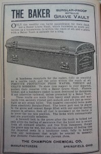 1910 World Almanac Burglar Proof Coffin P1060739