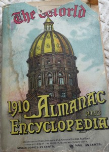 1910 World Almanac Cover P1060720