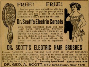 1910 World Almanac Dr Scotts Electric Corsets