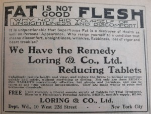 1910 World Almanac Fat is not Good Flesh P1060729