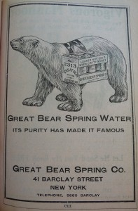 1910 World Almanac Great Bear Spring Water P1060733
