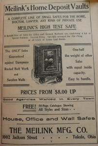 1910 World Almanac Meilinks Safe P1060722