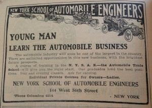 1910 World Almanac New York Auto School P1060725
