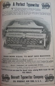 1910 World Almanac Perfect Typewriter P1060738