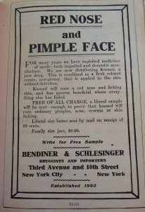1910 World Almanac Red Nose Pimple Face P1060727