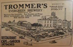 1910 World Almanac Trommers Evergreen Brewery P1060724
