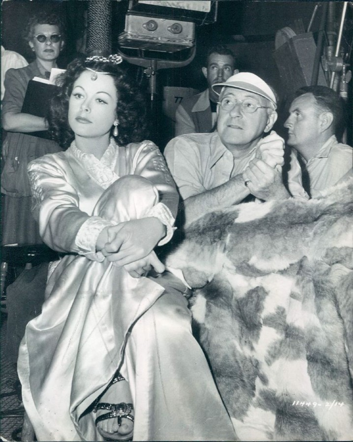 Hedy Lamarr Cecil B Demille On Set 10 28 1949