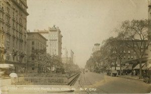 nyc pc Broadway North From 109th St 1915