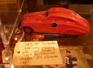 "October 3, 1946 - Pacemaker ""Girls! were playing with cars! Maybe they'll be race car drivers! It's a German car!"""
