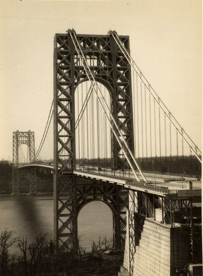 George Washington Bridge Under Construction circa 1930