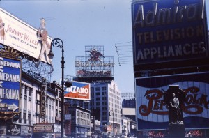 Rent A Van Nyc >> Vintage Color Photographs of Times Square With Advertisements 1954