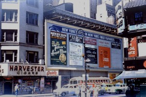 Times Sq 9 1954 46th  Duffy Sq