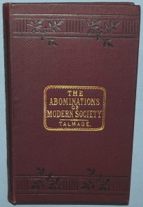 Abominations of modern Society Talmage