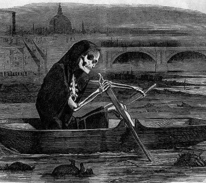 Death on the River print 19th century