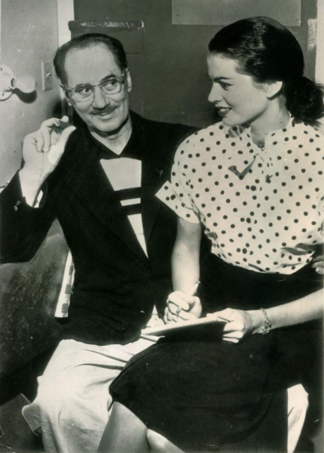 Groucho and Eden Marx 1954