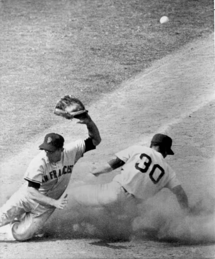 Baseball Maury Wills Steals 104th base 1962 10 3