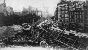 Union Square June 8, 1901 Subway Construction