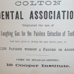 Colton Dental Ad 1874