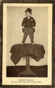 Coney Island Dreamland Circus Side Show Freak Baron Paucci Smallest Man