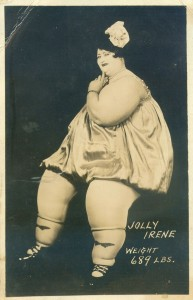 Coney Island Dreamland Circus Side Show Freak Jolly Irene