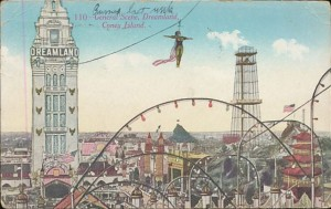Coney Island Dreamland Performer High Wire Act