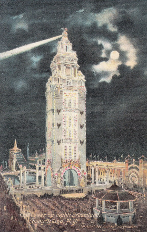 Old New York In Postcards 7 Dreamland Coney Island Part 1