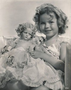 Shirley Temple with Shirley Temple doll 1934