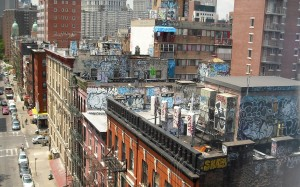 Buildings Covered in graffiti photo via mercedesberk.com