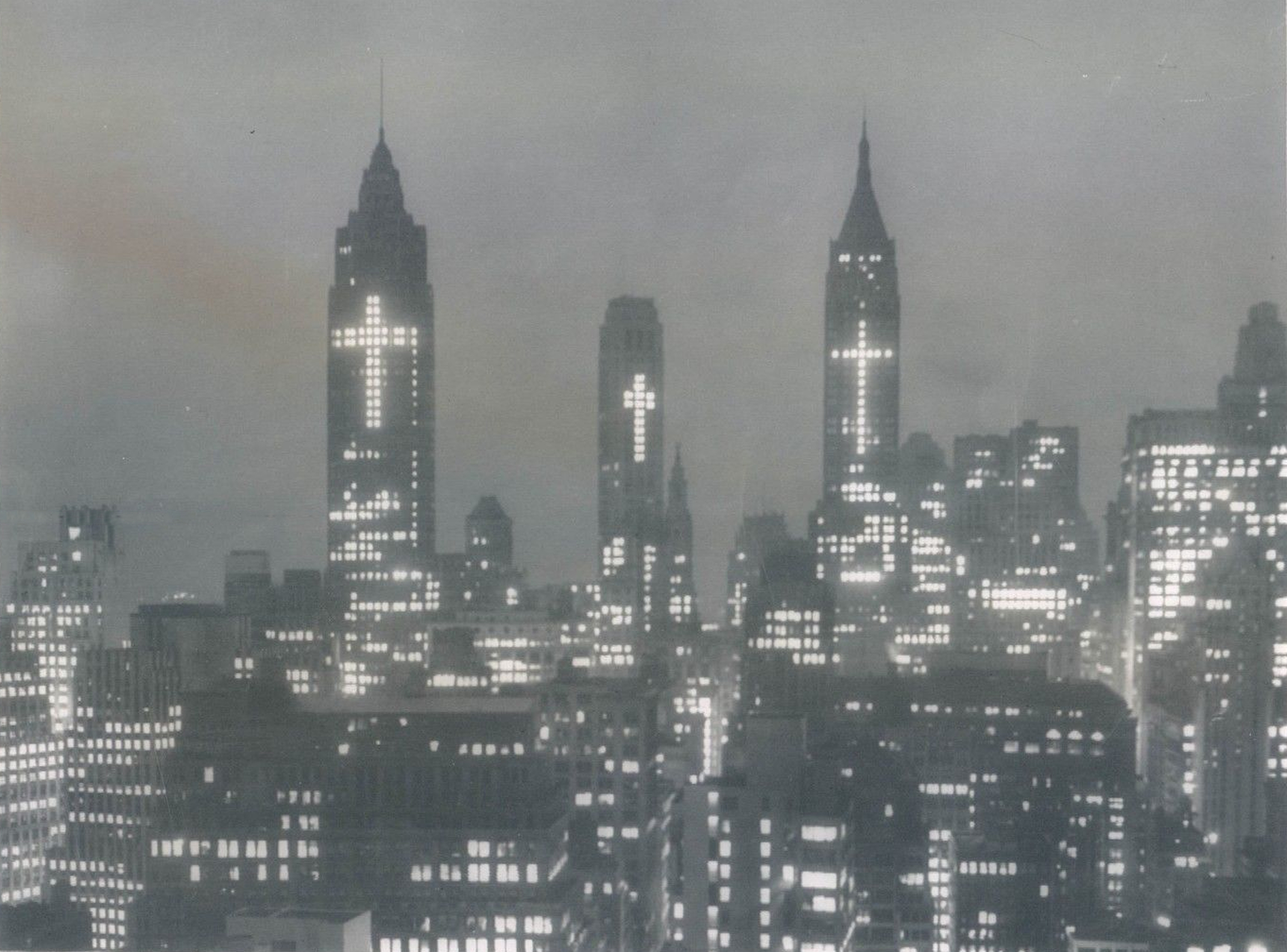 How They Lit New York For Easter - 1956
