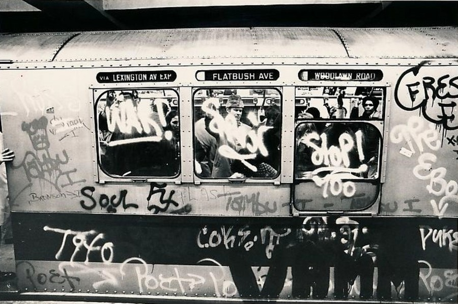 Subway graffiti photo taken Feb 8, 1982