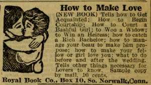 Ad Book How To Make Love world almanac 1915