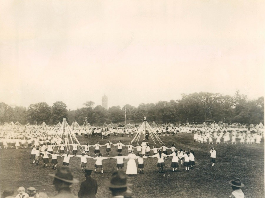 Brooklyn May Day celebration 10,000 girls at  Prospect Park 1919