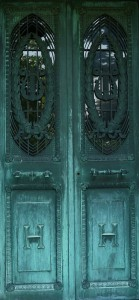 Heidelbach mausoleum door Green-Wood Cemetery, Brooklyn