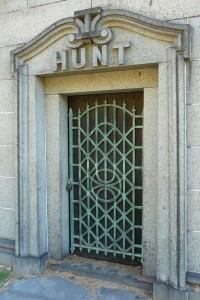 Hunt mausoleum door Green-Wood Cemetery, Brooklyn