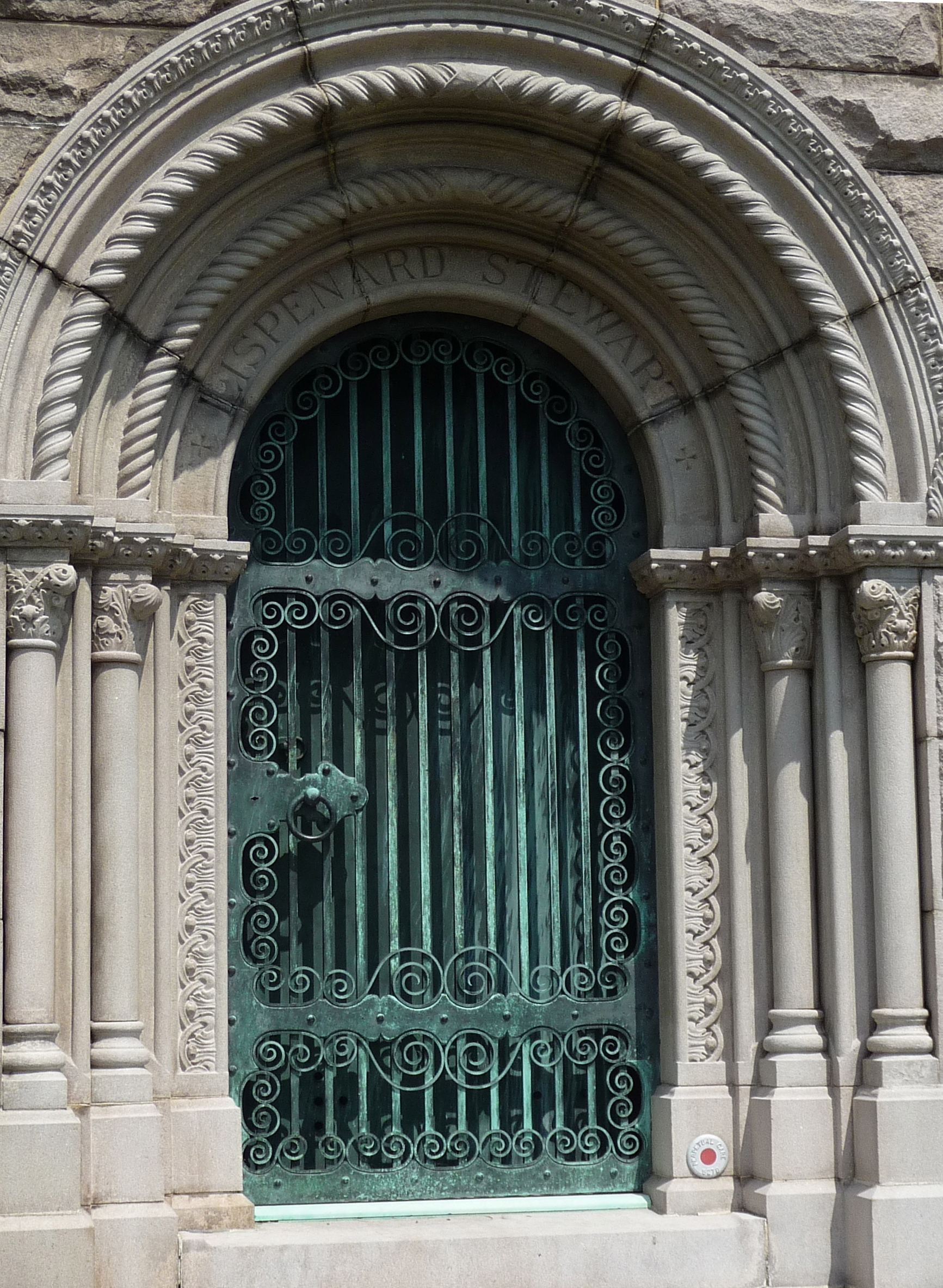 Lispenard - Stewart mausoleum door Green-Wood Cemetery Brooklyn & At Death\u0027s Door: Beautiful Mausoleum Doors At Green-Wood Cemetery