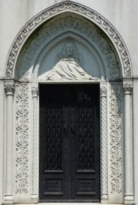 Rinelli - Guardino mausoleum door Green-Wood Cemetery, Brooklyn