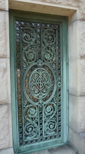 Thorne - Smith mausoleum door Green-Wood Cemetery, Brooklyn