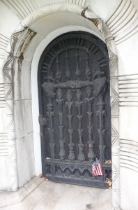 Delafield mausoleum door Green-Wood Cemetery, Brooklyn